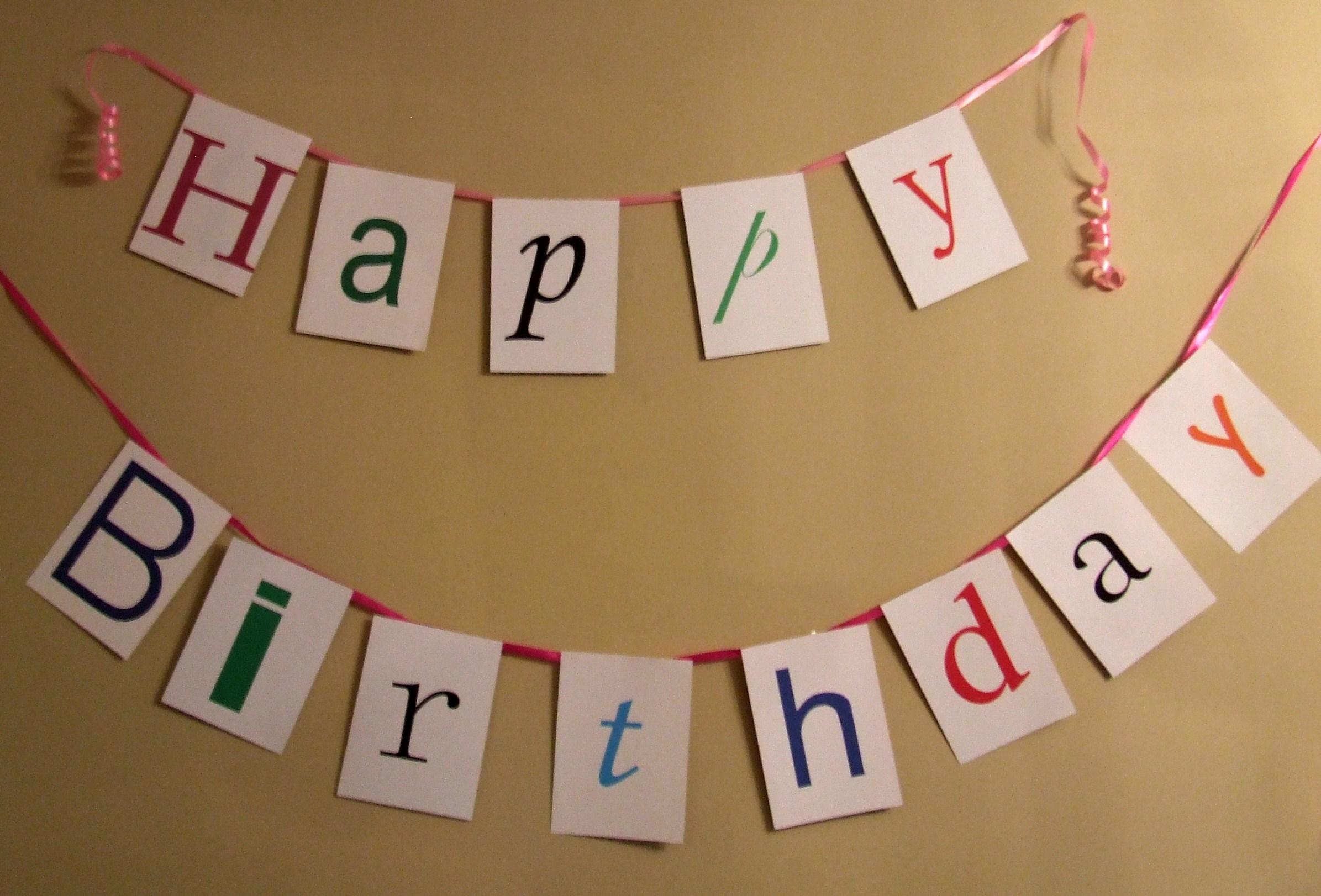happy birthday banner  happy birthday banner
